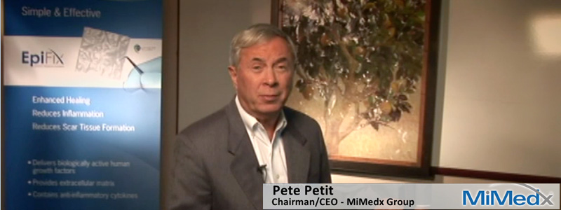 Pete Petit is Chairman and CEO of MiMedx Group in Kennesaw, GA