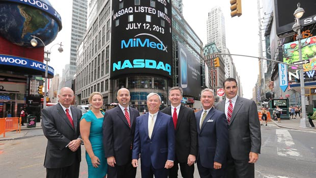 MimEdx Management Team in Times Square